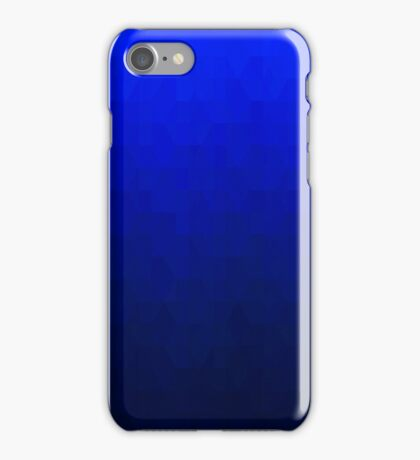 Hexagonal Overlay - Blue iPhone Case/Skin