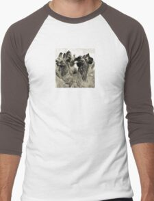 Wetnose Chickens Sepia Men's Baseball ¾ T-Shirt