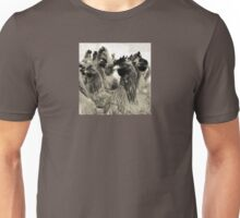 Wetnose Chickens Sepia Unisex T-Shirt