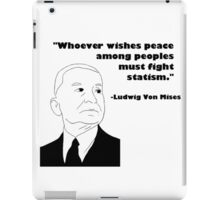 Mises on Statism iPad Case/Skin