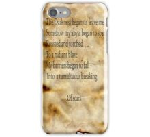 A Tumultuous Breaking Of Scars iPhone Case/Skin
