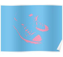All Stars Pink & Blue Poster