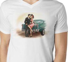 50's love Mens V-Neck T-Shirt