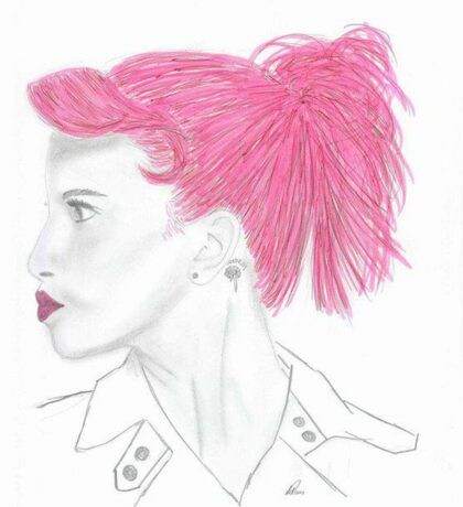 Hayley Williams Pink Sticker