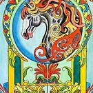 Art Nouveau Horse by WildestArt