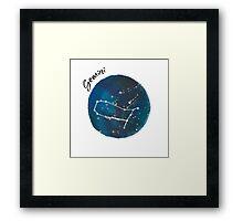 gemini galaxy Framed Print