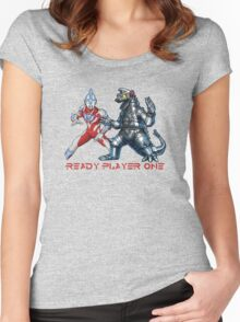 Ready Player One Mech Ultra Women's Fitted Scoop T-Shirt