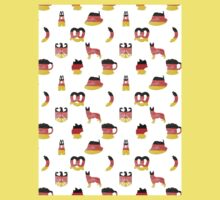 German Motifs in Hand-Painted Colors of German Flag Kids Tee