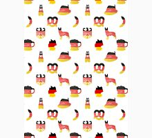 German Motifs in Hand-Painted Colors of German Flag Unisex T-Shirt
