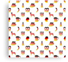 German Motifs in Hand-Painted Colors of German Flag Canvas Print
