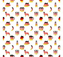 German Motifs in Hand-Painted Colors of German Flag Photographic Print
