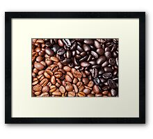 Black Brown Coffee Bean Cafe Beans Background Framed Print