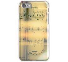 Music scrolls yellow iPhone Case/Skin