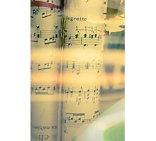 Music scrolls yellow Photographic Print