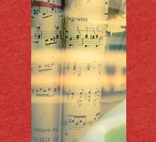 Music scrolls yellow Tri-blend T-Shirt