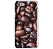 Black Brown Coffee Bean Cafe Beans Background iPhone Case/Skin