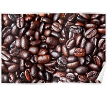 Black Brown Coffee Bean Cafe Beans Background Poster