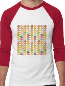 Retro 60s Midcentury Modern Pattern Men's Baseball ¾ T-Shirt