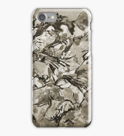 Running Horses BW iPhone Case/Skin