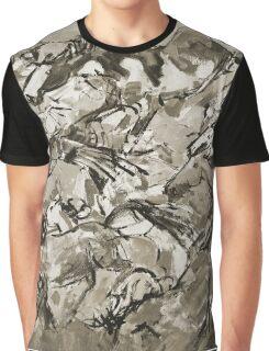Running Horses BW Graphic T-Shirt