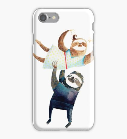 Slothy dancing - sloth couple iPhone Case/Skin