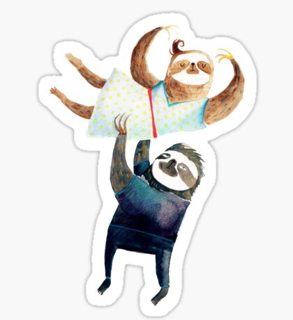 Slothy dancing - sloth couple Sticker