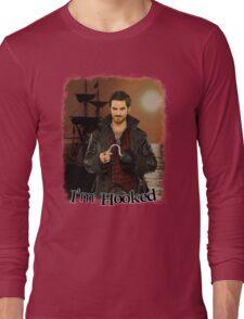 "Captain Hook ""I'm Hooked"" Comic Design Long Sleeve T-Shirt"