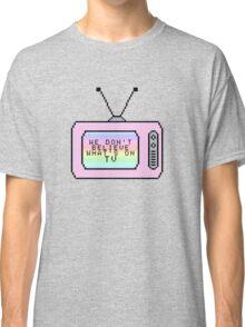 Ombre Pastel Pixel TV Lyrics Classic T-Shirt