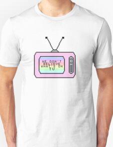Ombre Pastel Pixel TV Lyrics Unisex T-Shirt