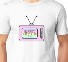 Ombre Pastel Pixel TV Lyrics Unisex T-Shirt