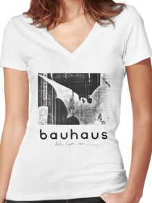 BAUHAUS - BELA LUGOSI'S DEAD Women's Fitted V-Neck T-Shirt