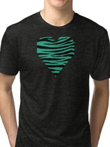 0334 Jungle Green Tiger Tri-blend T-Shirt