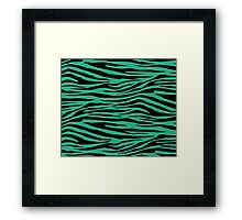 0334 Jungle Green Tiger Framed Print