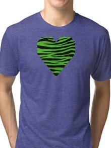 0336 Kelly Green Tiger Tri-blend T-Shirt
