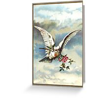 Dove with Roses Greeting Card