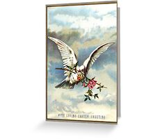 Easter Dove with Roses Greeting Card