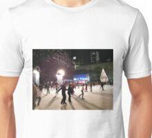 Ice Skating at Night, Bryant Park, New York  Unisex T-Shirt