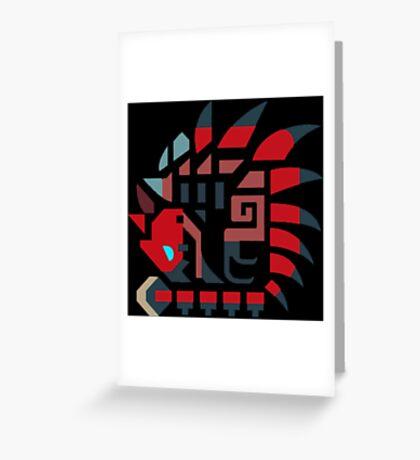 Rathalos icon Greeting Card