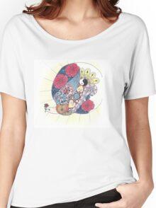 Joyful bird and Rosy Moon Women's Relaxed Fit T-Shirt
