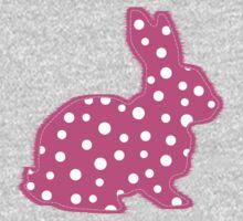Pink Polka Dot Bunny One Piece - Long Sleeve