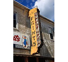 Flemington, NJ - Paint Shop Neon Photographic Print