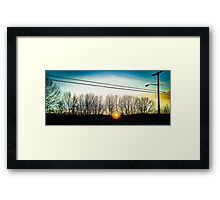 Light Sky Framed Print