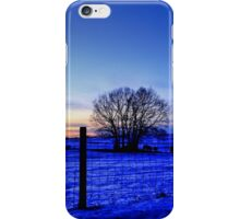 Night Falls On The Pasture iPhone Case/Skin