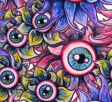 The Devil's Flower Garden - Demonic Eyeball Flowers Sticker