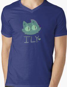 space cat loves you Mens V-Neck T-Shirt