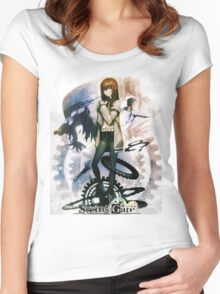 Steins;Gate  Anime  Women's Fitted Scoop T-Shirt