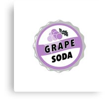 Grape Soda : UP Bottle Cap Canvas Print