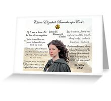 Outlander/Claire Fraser quotes Greeting Card