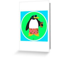 Party Penguin Greeting Card