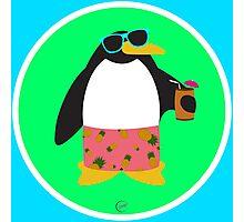 Party Penguin Photographic Print